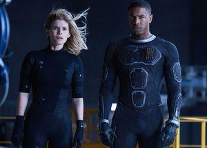 Kate Mara and Michael B. Jordan in 'Fantastic Four'