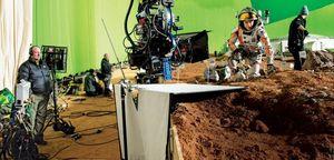 Matt Damon behind-the-scenes green screen 'The Martian'
