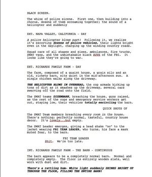 Page One of Max Landis 'Fantastic Four' Screenplay