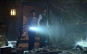 Gotham Season 2 photo of Bruce in Thomas Wayne's secret cave