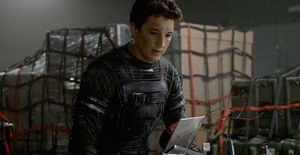 Reed Richards (Miles Teller) and some tech in Fantastic Four