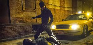 Daredevil fights without suit