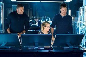 John Diggle, Felicity Smoak, Oliver Queen - Original Team Arrow