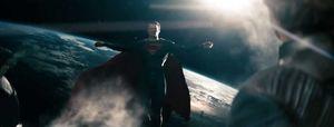 Superman Flies Far From Earth, Man of Steel