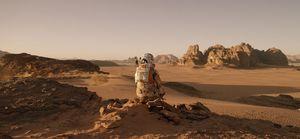 Matt Damon sits around on another planet