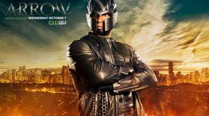 Official Arrow Season 4 poster featuring John Diggle