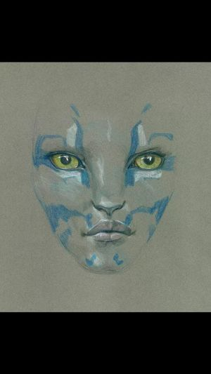 An early sketch of a female character from 'Avatar 2'