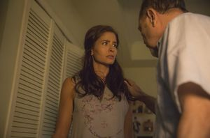 Mercedes Mason and Ruben Blades as Ofelia and Daniel Salazar