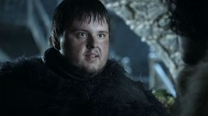 Samwell Tarly, as played by John Bradley-West, in 'Game of T