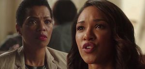 Iris West and her mother, Francine