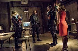Team Arrow in Arrow lair