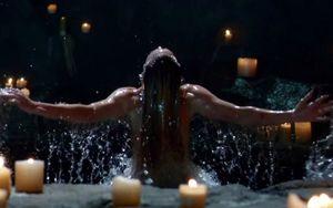 Sara Lance being resurrected in Lazarus Pit