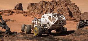 The Martian Nasa vehicle