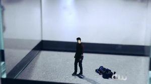 Miniaturized post-explosion Ray Palmer
