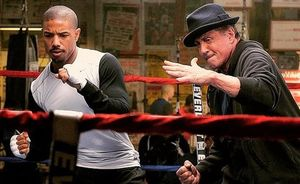 Michael B. Jordan and Sylvester Stallone in
