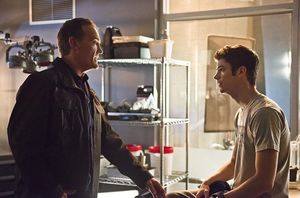 Barry Allen/The Flash and his father Henry