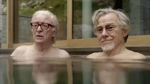 Michael Caine and Harvey Keitel in