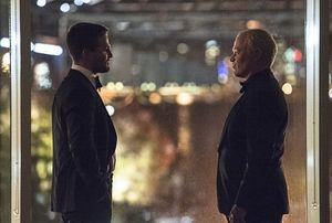 Oliver Queen meets Damian Darhk as Oliver