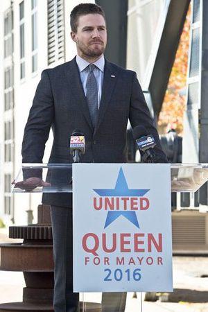 Oliver Queen daytime mayoral speech