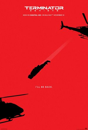 Minimalist poster for Terminator Genisys Blu Ray Release