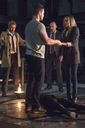 John Constantine restoring Sara Lance's soul