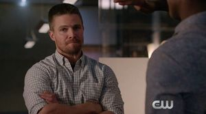 Oliver Queen meets Curtis Holt at Palmer Tech