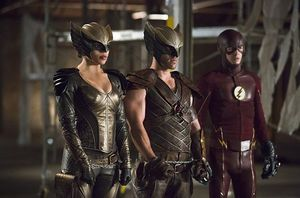 Hawkgirl, Hawkman, The Flash