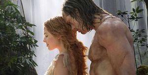 Margot Robbie and Alexander Skarsgard in Tarzan
