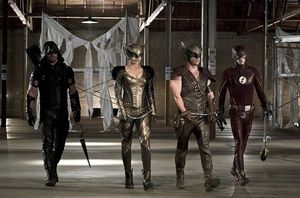 Green Arrow, Hawkgirl, Hawkman, The Flash