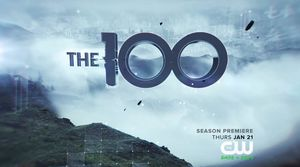 The 100 Season Three title card