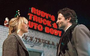 Jennifer Lawrence and Bradley Cooper in