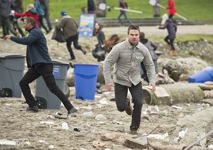 Oliver Queen at bay drone attack