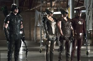 Green Arrow, Hawkgirl, Hawkman, The Flash