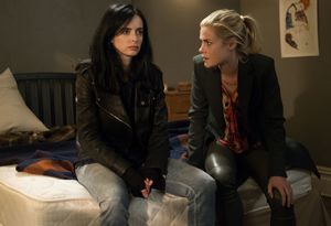 Krysten Ritter and Rachael Taylor as Jessica Jones and Trish Walter