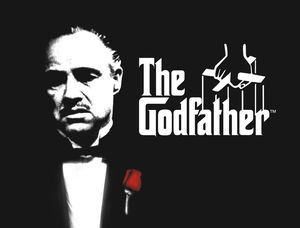 The Godfather Black and White poster