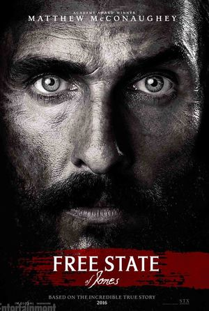 Intense McConaughey in Free State of Jones Poster