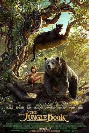 The Jungle Book Poster featuring Bagheera, Baloo and Mowgli