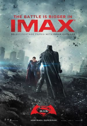 Batman v Superman imax poster