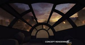 Concept art from the new Millennium Falcon Attraction at Wal