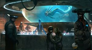 Artwork describing what the Cantina will look and feel like