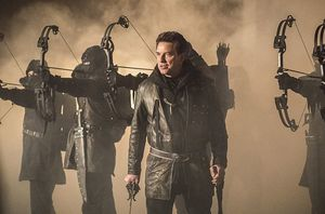 Malcolm Merlyn/new Ra's Al-Ghul with his League of Assassins
