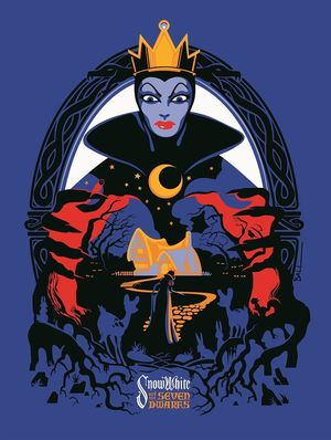 Courtesy of Cyclops Print Works, this Snow White and the Sev