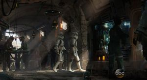 Inside the Cantina, you may see a couple Stormtroopers