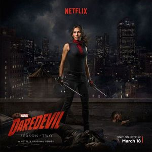 Elektra - Daredevil season 2 poster