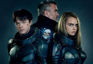 Dane DeHaan and Cara Delevingne With Director Luc Besson in