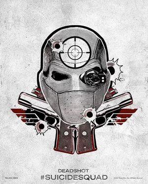 Harley Quinn's Tattoo Parlor Poster - Deadshot