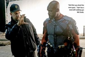 David Ayer and Will Smith on the set