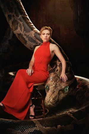 Scarlet Johansen as the voice of Kaa