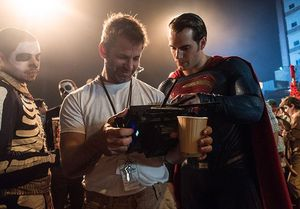 Henry Cavill and Zack Snyder