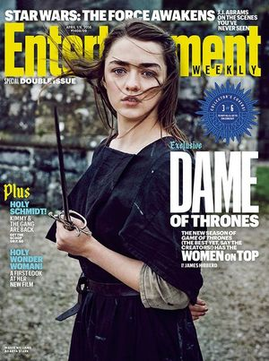 Maisie Williams on EW Cover